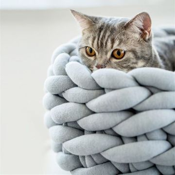 camas tejidas para gatos puntos