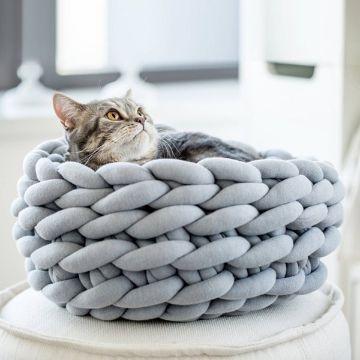 camas tejidas para gatos trapillo