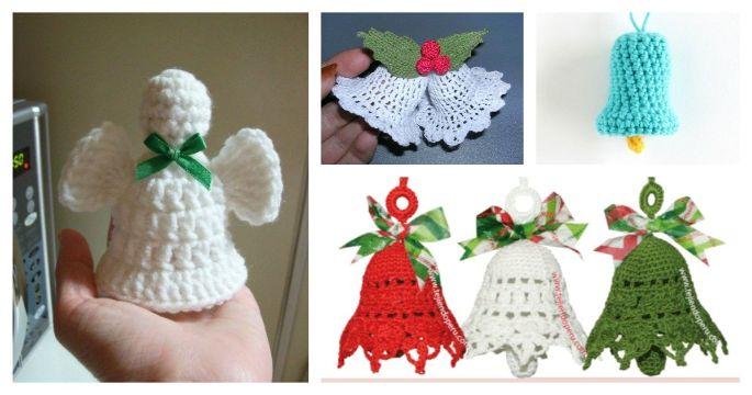 campanas de navidad a crochet figuras