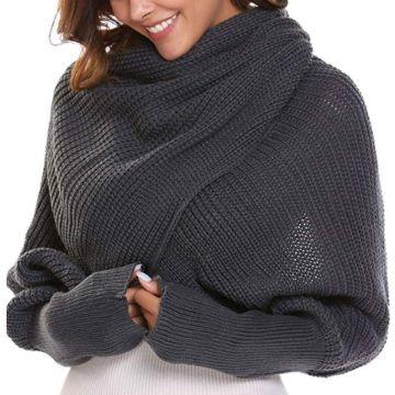 chalinas tejidas a crochet con mangas