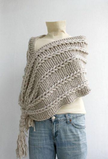 chalinas tejidas a crochet grandes