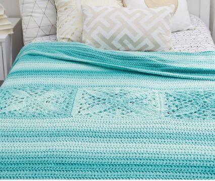 colchas de cama a crochet elegantes
