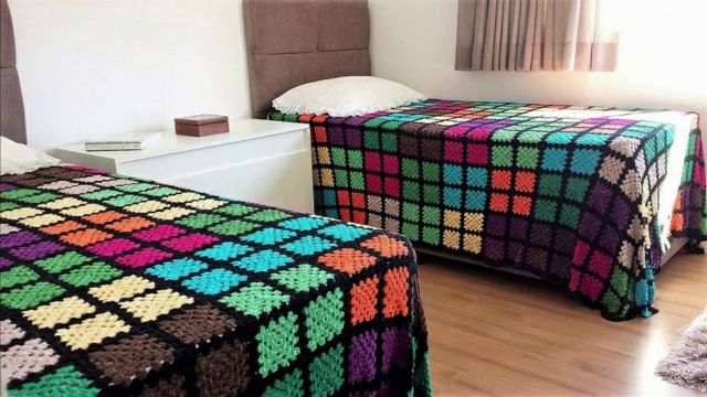 colchas de cama a crochet para jovenes