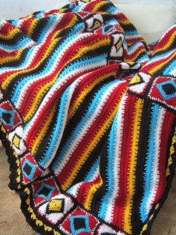 cubrecamas a crochet de colores artesanal