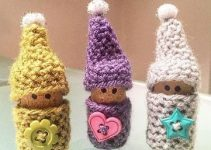 Divertidos gnomos tejidos al crochet navidad 2019