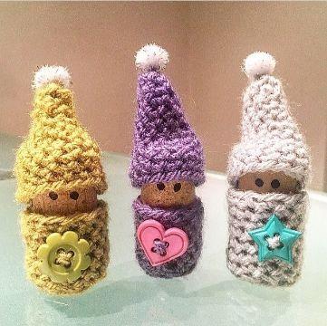 gnomos tejidos al crochet originales