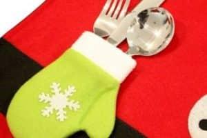 Ideas para hacer guantes navideños para cubiertos 2019