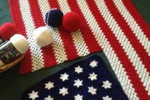 Ideas patrioticas y banderas tejidas a crochet 2020