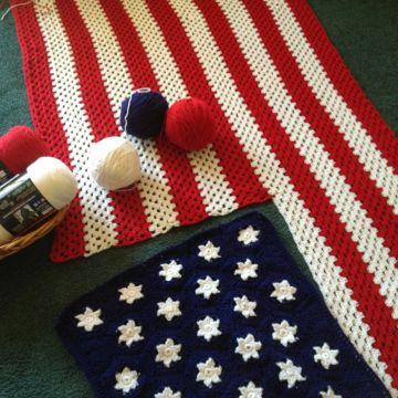 banderas tejidas a crochet decorativas