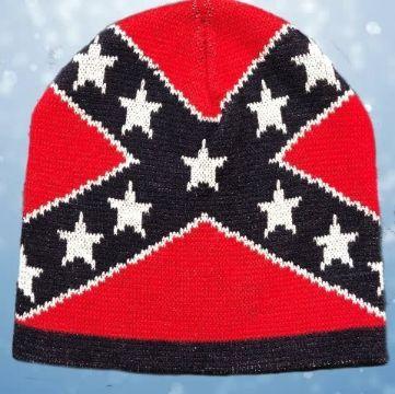 banderas tejidas a crochet en gorros