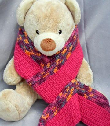 bufandas de colores a crochet marcos