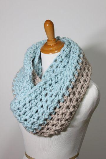 bufandas de colores a crochet tenues