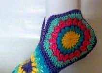 Diseños de calcetines tejidos a crochet en 5 pasos