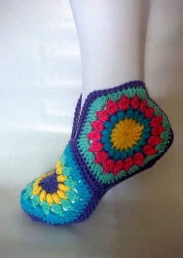 calcetines tejidos a crochet imagenes