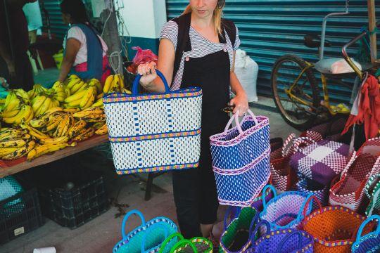 canastas artesanales mexicanas bolsas