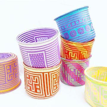 canastas artesanales mexicanas pequeñas