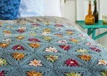 4 diseños de colchas a crochet para cama matrimonial