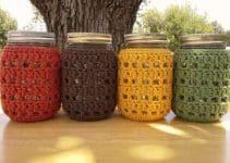 2 puntos para crear originales tarros forrados a crochet