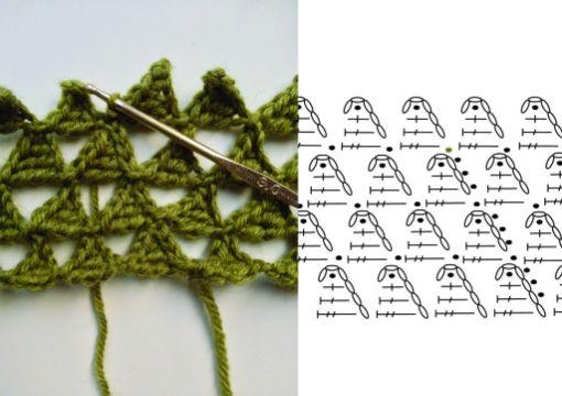triangulos tejidos en crochet patrones