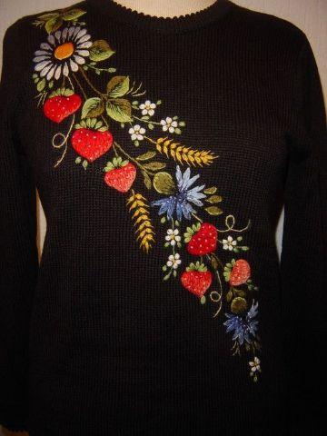 bordados en lana a mano sueteres