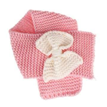 bufanda para niña de 6 años con detalles tejidos
