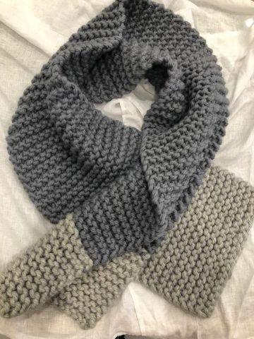 bufandas de lana para mujer a dos tonos