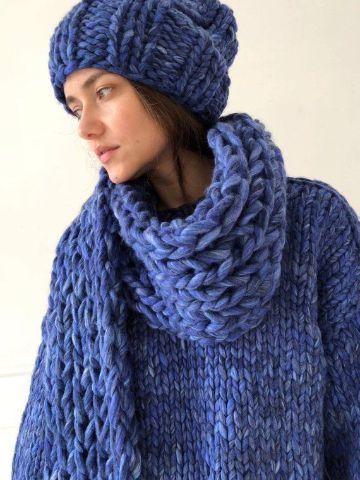 bufandas de lana para mujer y gorros