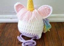 3 pasos para crear gorros de unicornio a crochet niñas