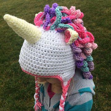 gorros de unicornio a crochet originales