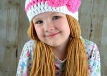 Divertidos gorros tejidos con coletas para niña 2020