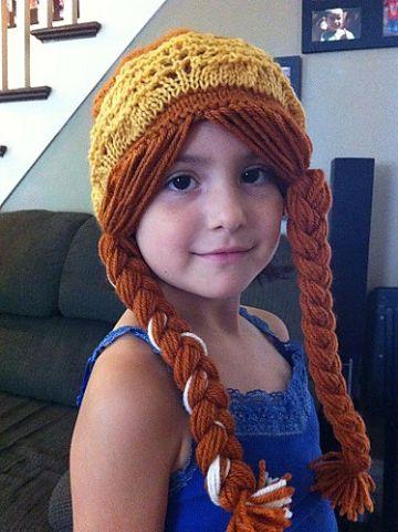gorros tejidos con coletas para niña disfraz