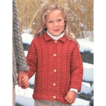 jersey a dos agujas para niña de 7 años