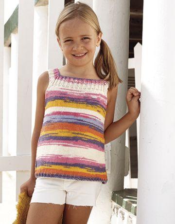 jersey de tirantes a dos agujas para niña
