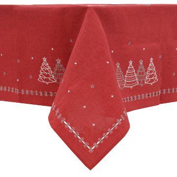 tejidos y bordados de servilletas navidad