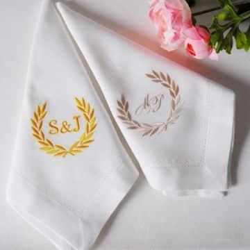 tejidos y bordados de servilletas para bodas