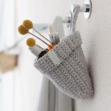 adornos a crochet para el baño colgantes