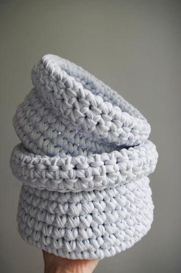 adornos a crochet para el baño tipo vasijas