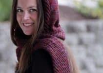 7 pasos en capucha con bufanda a crochet para jóvenes