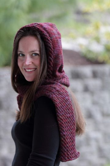 capucha con bufanda a crochet para jovenes