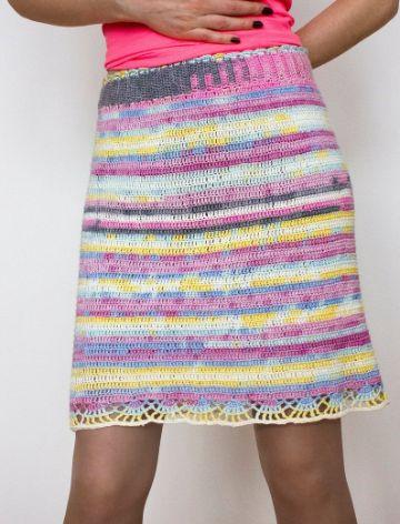 faldas cortas a crochet paso a paso a colores