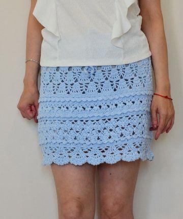 faldas cortas a crochet paso a paso caladas