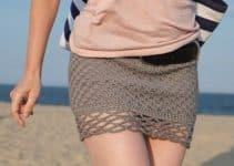 Diseños en faldas cortas a crochet paso a paso verano 2020