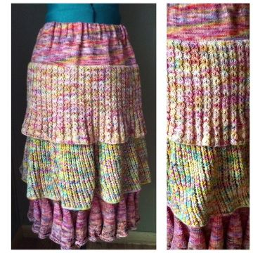 faldas largas tejidas a mano originales