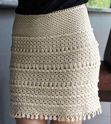 faldas largas tejidas a mano pegada