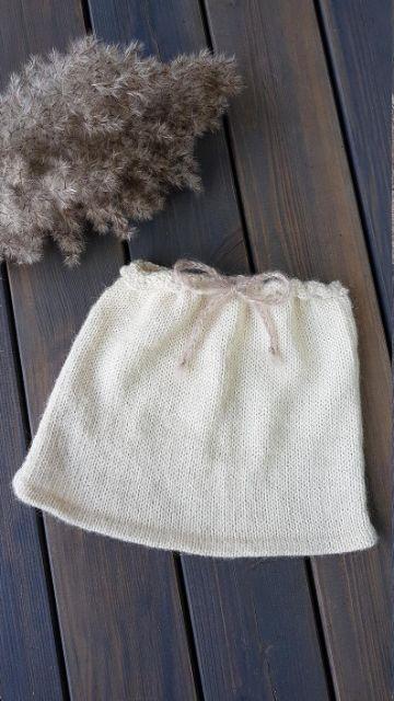faldas tejidas para niñas a dos agujas