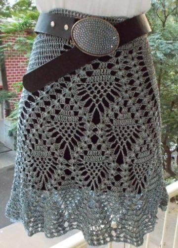 faldas tejidas para niñas puntos y texturas