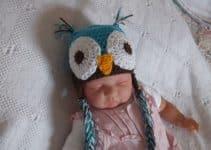 Diseño de un gorro de buho a crochet 0 a 2 años