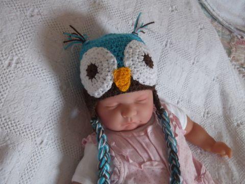 gorro de buho a crochet para bebes