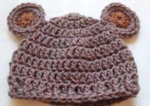 2 ideas para un divertido gorro de oso a crochet para bebe