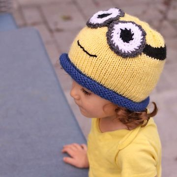 gorros tejidos de minions sombrero